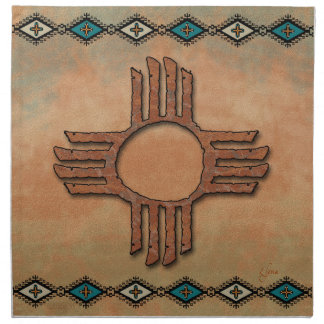 New Mexico Zia (sun) Napkin