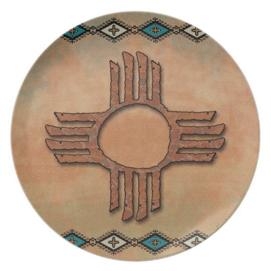 New Mexico Zia (sun) Plate