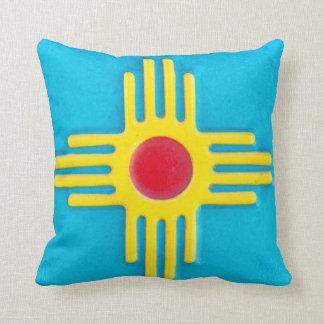New Mexico Zia Sun Throw Pillow
