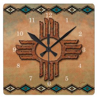 New Mexico Zia (sun) Wallclocks