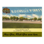 New Mexico, Zuni Court, Roswell Post Cards