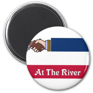 New Mississippi v2 At The River 2 6 Cm Round Magnet