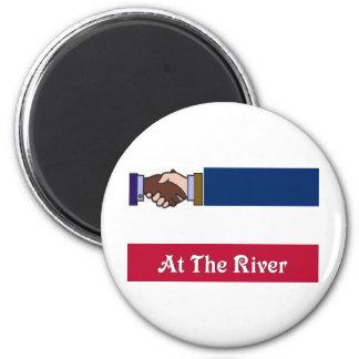 New Mississippi v2 At The River 2 6 Cm Round Magnet