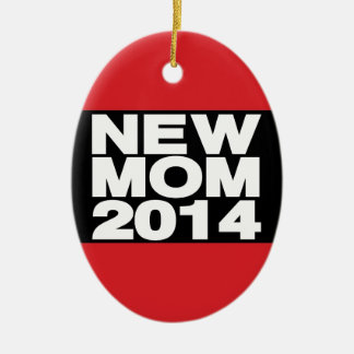 New Mom 2014 Lg Red Christmas Ornament