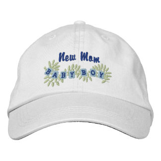 New Mom -Boy Embroidered Baseball Caps