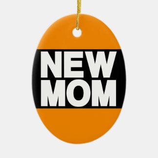 New Mom Lg Orange Christmas Ornament