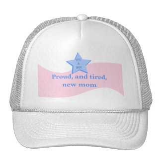 New Mom of Baby Boy Trucker Hat