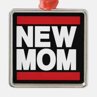 New Mom Red Christmas Ornament