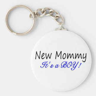 New Mommy Its A Boy Key Chain
