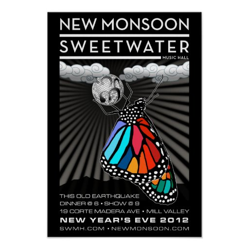 """New Monsoon New Year's Eve 2012 Poster 13""""x19"""""""