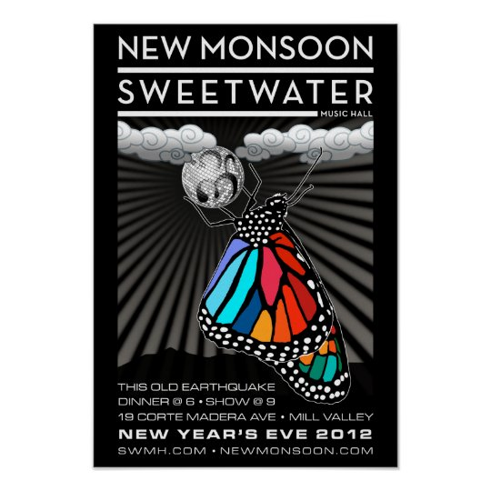 "New Monsoon New Year's Eve 2012 Poster 13""x19"""