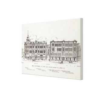 New Montgomery East side Market and Jessie Canvas Print