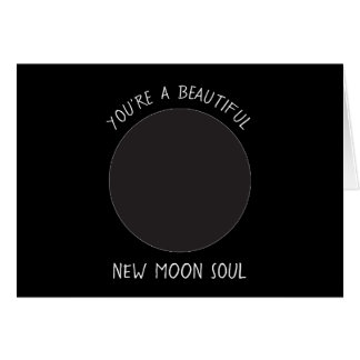 New MOON Phase Greeting Card
