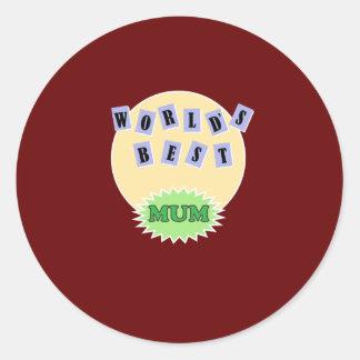 New Mum Gift Round Sticker