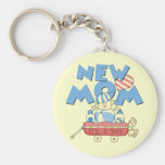 New Mum It's a Boy Tshirts and Gifts Basic Round Button Key Ring