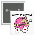 New Mummy Baby Girl Tshirts and Gifts Badge