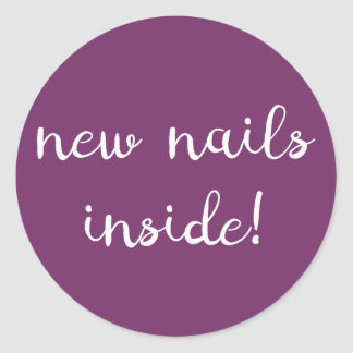 New nails inside! Purple Sticker