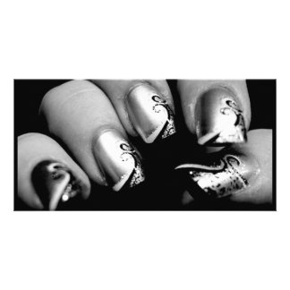 New nails photo card template