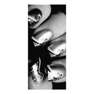 New nails rack card design