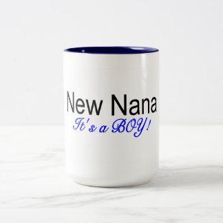 New Nana Its A Boy Coffee Mugs