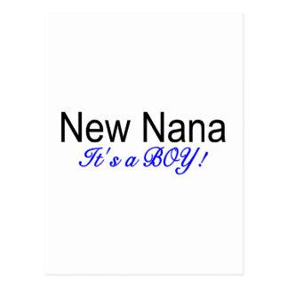 New Nana Its A Boy Postcard