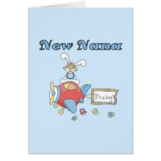 New Nana of Boy-Airplane Tshirts and Gifts Greeting Card