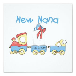 New Nana - Train Gifts 13 Cm X 13 Cm Square Invitation Card