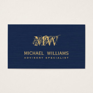 New navy blue of gold calling card