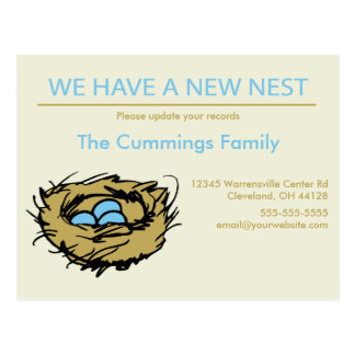 New Nest Moving Announcement Postcard