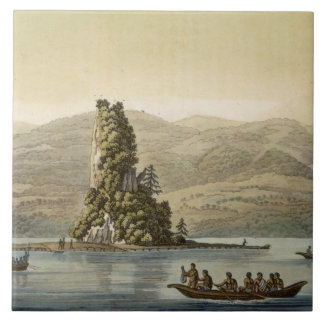 New Norfolk near Vancouver (colour engraving) Tile