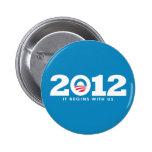 New Obama 2012 Logo Button