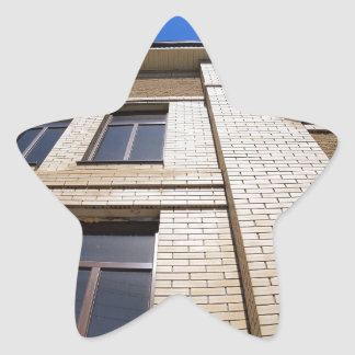 New office building, view from below star sticker