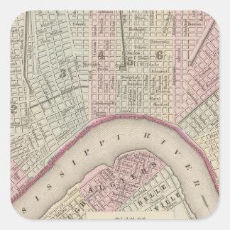 New Orleans 3 Square Sticker