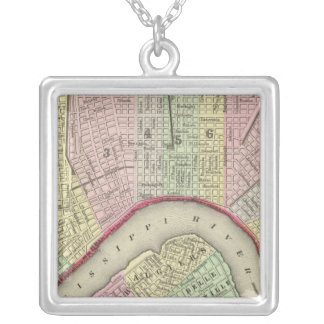 New Orleans 4 Silver Plated Necklace