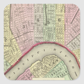 New Orleans 4 Square Sticker