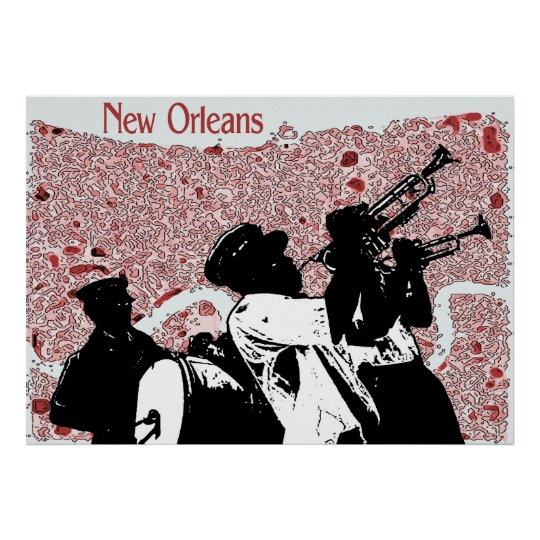 New Orleans Abstract Map Poster
