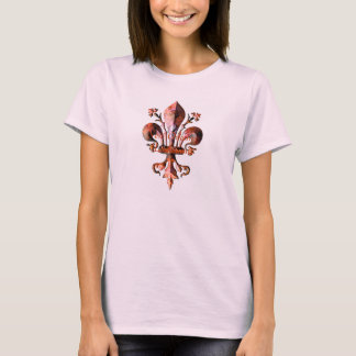 New Orleans Antique Fleur de lis metallic T-Shirt