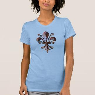 New Orleans Antique Fleur de lis metallic T-shirts