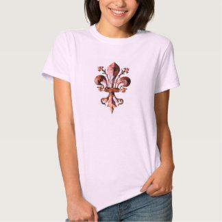 New Orleans Antique Fleur de lis metallic Tshirts