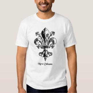New Orleans Antique Fleur de lis Tee Shirt