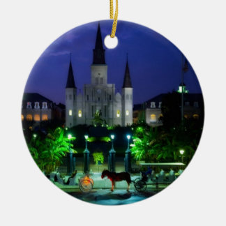 New Orleans at Night Christmas Ornament