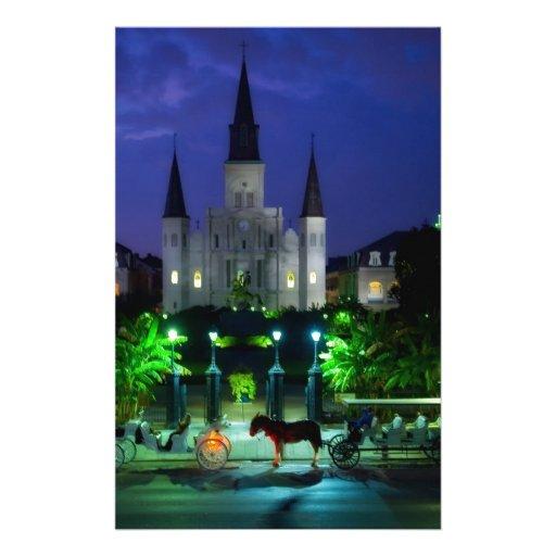 New Orleans at Night Custom Stationery