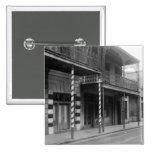 New Orleans Barbershop, 1930s 15 Cm Square Badge
