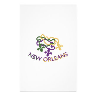 New Orleans Beads Stationery Paper