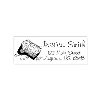 New Orleans Beignet Pastry Personalized Address Rubber Stamp