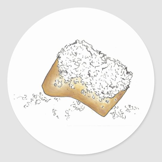 New Orleans Beignet Stickers