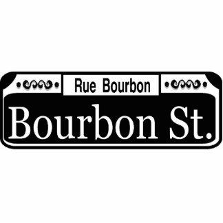 New Orleans Bourbon Street Sign Standing Photo Sculpture