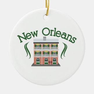New Orleans Building Christmas Ornament