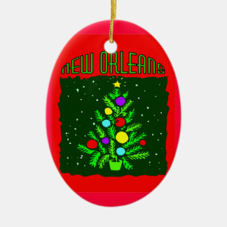 New Orleans Christmas Tree Christmas Ornament