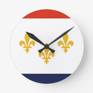New Orleans city flag United States America USA Round Clock